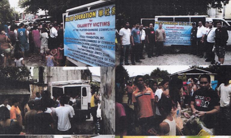 華社救災基金配合依里牙市 發放救災物品支援颱風災民
