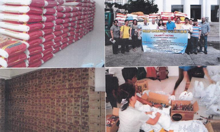 華社救災基金配合東黎剎 發放救災物品給颱風災民