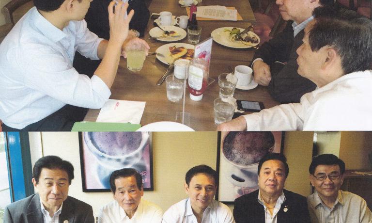 商總理事長施文界等領導 與參議員Sonny Angara舉行早餐會
