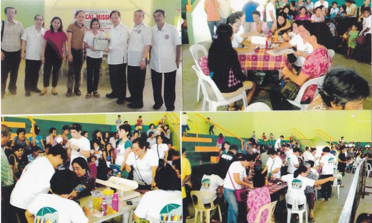 商總配合西黑省南區菲華商會等 在尤蘭沓颱風災區進行義診施藥
