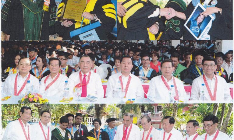 內湖國立科大Los Baños校區舉行畢業禮 商總理事長施文界應邀出席任主講