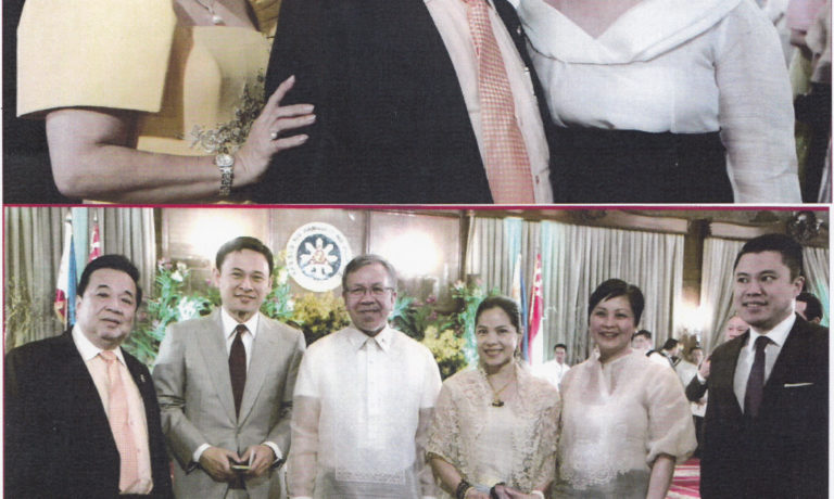 施文界夫婦應邀出席 歡迎新加坡總統國宴