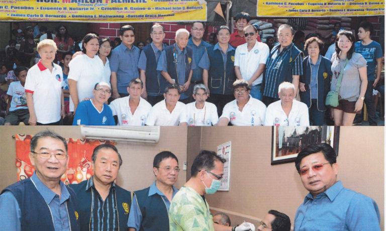 商總配合加洛干市179描籠涯 在當地進行義診施藥等服務