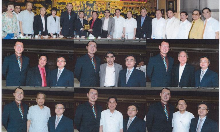 商總理事長率諸領導熱烈歡迎 沈自成邱艦兩位參贊兼總領事