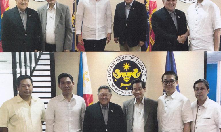 商總領導拜訪菲律賓財政部長卡洛斯·多明计斯