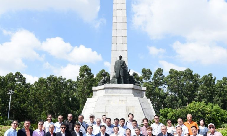 FFCCCII delegation visits the Dr. Jose Rizal monument in Jinjiang County